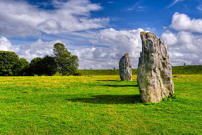 Photograph - Standing Stone Circle In Avebury - Ancient Britain by Mark E Tisdale