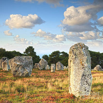 Megalith Photograph - Standing Stones Carnac Brittany by Colin and Linda McKie
