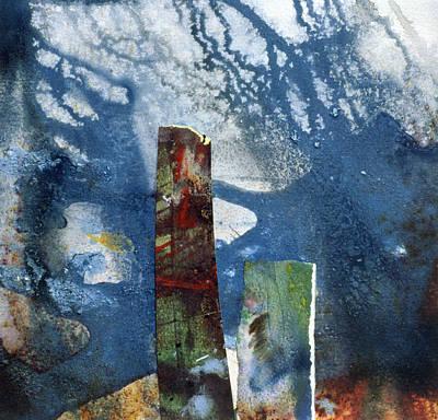 Standing Stones II Art Print by Gloria Wallington