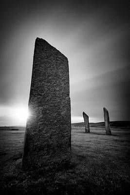 Neolithic Photograph - Standing Stones Of Stenness by Dave Bowman