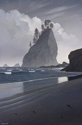 Olympic National Park Painting - Standing Tall by Cliff Wassmann