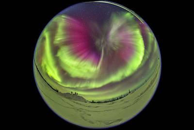 Observer Photograph - Standing Under An All-sky Aurora by Alan Dyer
