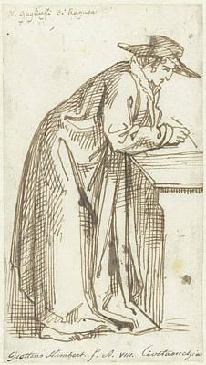 Pi Drawing - Standing, Writing Husband, David Pièrre Giottino Humbert by Quint Lox