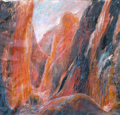 Painting - Standley Chasm  2   by Ekaterina Mortensen