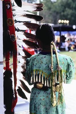 Powwow Photograph - The Staff by Chris Brewington Photography LLC