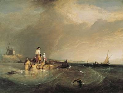 Stanfield, Clarkson 1793-1867. On Art Print by Everett