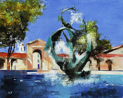 Stanford University Painting - Stanford Claw by Stan Fellows