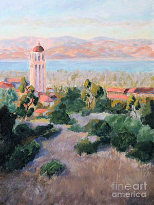 Stanford University Painting - Hoover Tower 3 Stanford University by Catherine Moore