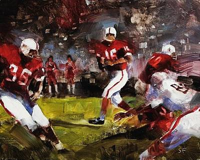 Football Painting - Stanford/ohio St. by Stan Fellows