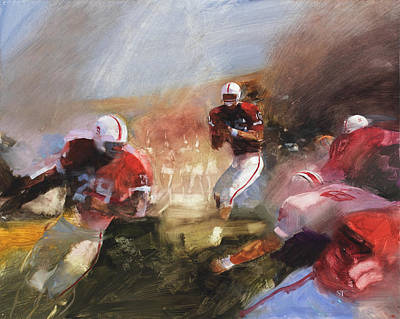 Stanford University Painting - Stanford/ Ohio State Rose Bowl 1971 by Stan Fellows