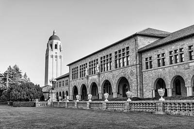 University Photograph - Stanford University In Black And White by Priya Ghose