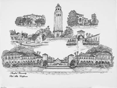 Stanford Digital Art - Stanford University by Jessica Bryant