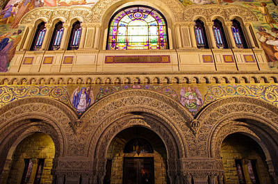 Stanford Photograph - Stanford University Memorial Church Close Up by Scott McGuire