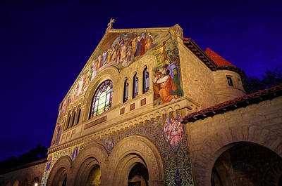 Stanford University Memorial Church Print by Scott McGuire