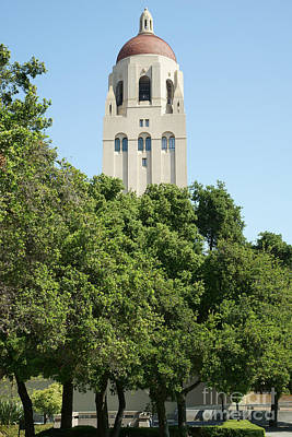 Stanford University Palo Alto California Hoover Tower Dsc677 Print by Wingsdomain Art and Photography