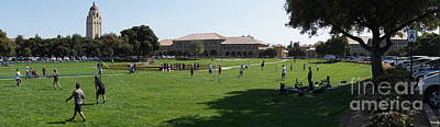 Photograph - Stanford University Palo Alto California Hoover Tower Panorama From The Oval Dsc691 by Wingsdomain Art and Photography