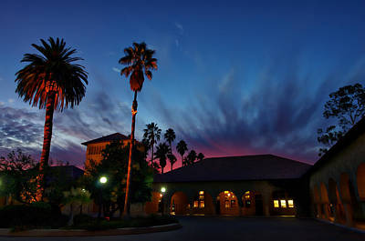 Stanford University Photograph - Stanford University Quad Sunset by Scott McGuire