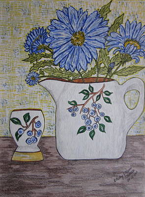 Stangl Blueberry Pottery Art Print by Kathy Marrs Chandler