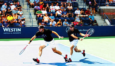 Pop Art Rights Managed Images - Stanislas Wawrinka in Action Royalty-Free Image by Nishanth Gopinathan