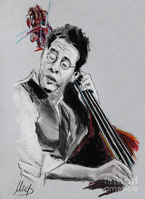 Jazz Drawing - Stanley Clarke by Melanie D