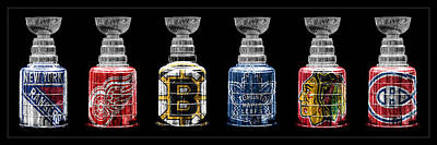 Sports Royalty-Free and Rights-Managed Images - Stanley Cup Original Six by Andrew Fare