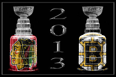 Stanley Cup Playoffs 2013 Print by Andrew Fare