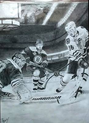 Dave Drawing - Stanley Cup Winner by Ezra Strayer