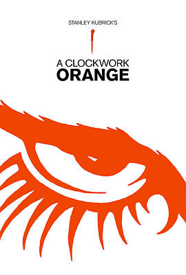 Computer Art Drawing - Stanley Kubrick A Clockwork Orange Movie Poster by Kevin Trow