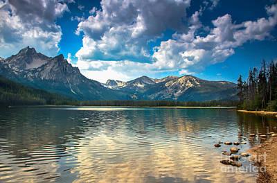 Haybales Photograph - Stanley Lake by Robert Bales