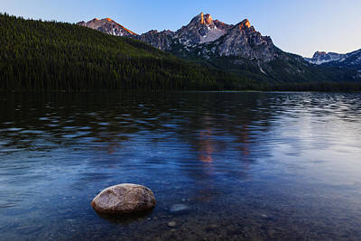 Sawtooth Mountain Art Photograph - Stanley Lake Sunset by Vishwanath Bhat
