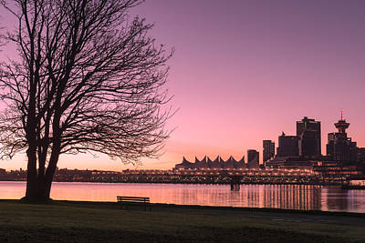 Canada Place Photograph - Stanley Park To Vancouver Sunrise by Paul W Sharpe Aka Wizard of Wonders
