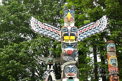Photograph - Stanley Park Totem Poles by Brenda Kean