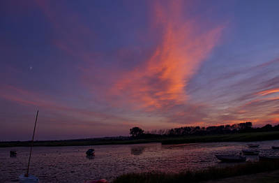 Photograph - Stanpit Christchurch Dorset Sunset by David French