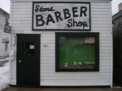 Stans Barber Shop Menominee Art Print