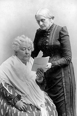 Of Women Photograph - Stanton And Anthony by Library Of Congress