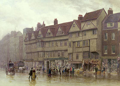 Horse Drawn Carriage Painting - Staple Inn  Holborn by Philip Norman