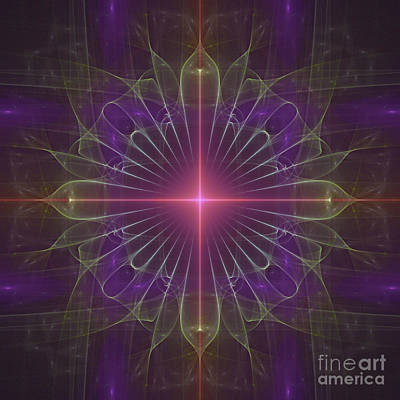 Digital Art - Star 1 by Ursula Freer
