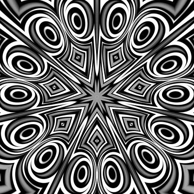 Arabesque Digital Art - Star And Swirls by Hakon Soreide