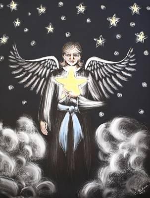 Night Angel Mixed Media - Star Angel by Christi Kuhner