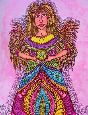 Star Angel Art Print by Gerri Rowan