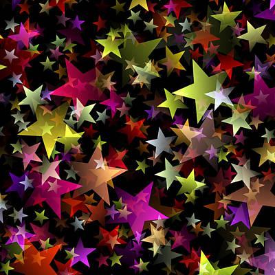 Constellation Digital Art - Star Belt by Daniel Hagerman