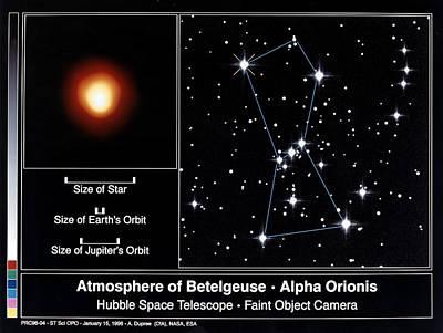 Betelgeuse Photograph - Star: Betelgeuse, 1995 by Granger