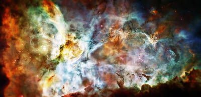 Hubble Telescope Photograph - Star Birth In The Carina Nebula  by Jennifer Rondinelli Reilly - Fine Art Photography
