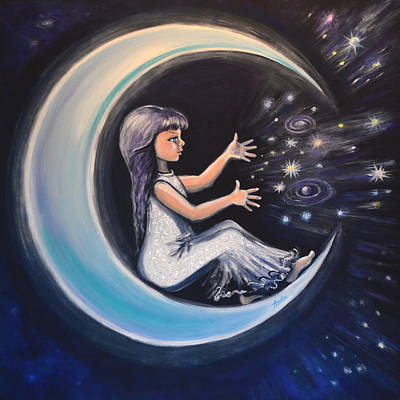 Painting - Celestial Games by Agata Lindquist