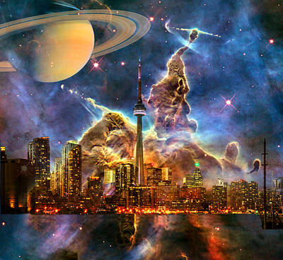 Digital Art - Star City by Robert Kernodle