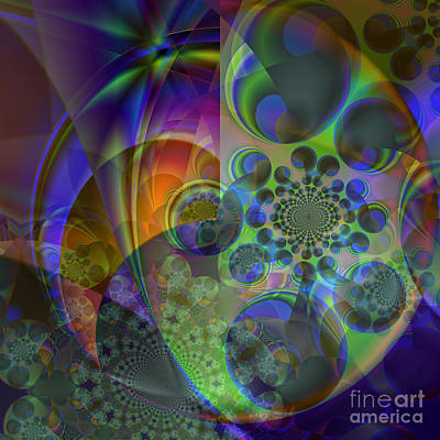 Digital Art - Star Cluster  by Ursula Freer