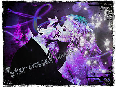 Digital Art - Star-crossed Lovers by Absinthe Art By Michelle LeAnn Scott