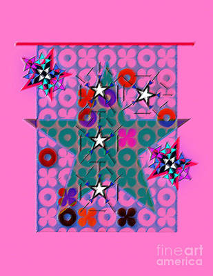 Digital Art - Star Design 3 by Christine Perry