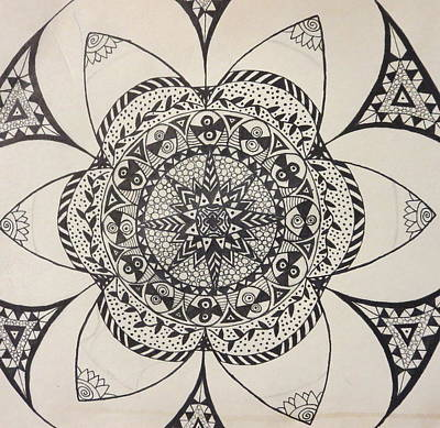 Drawing - Star Design by Jona Allen