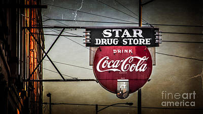 Star Drug Store 2 Art Print by Perry Webster